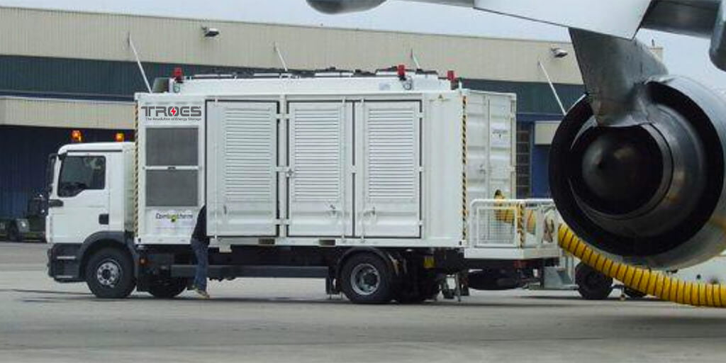 commercial mobile substation used for airplanes