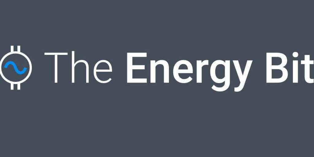 The logo for Energy Bit, the company who interviewed CEO of TROES, Vienna Zhou