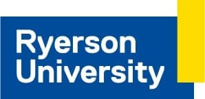 The logo for Ryerson University, one of TROES' affiliations