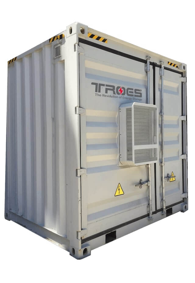 An image of TROES' container system, a big container that can be painted and customized