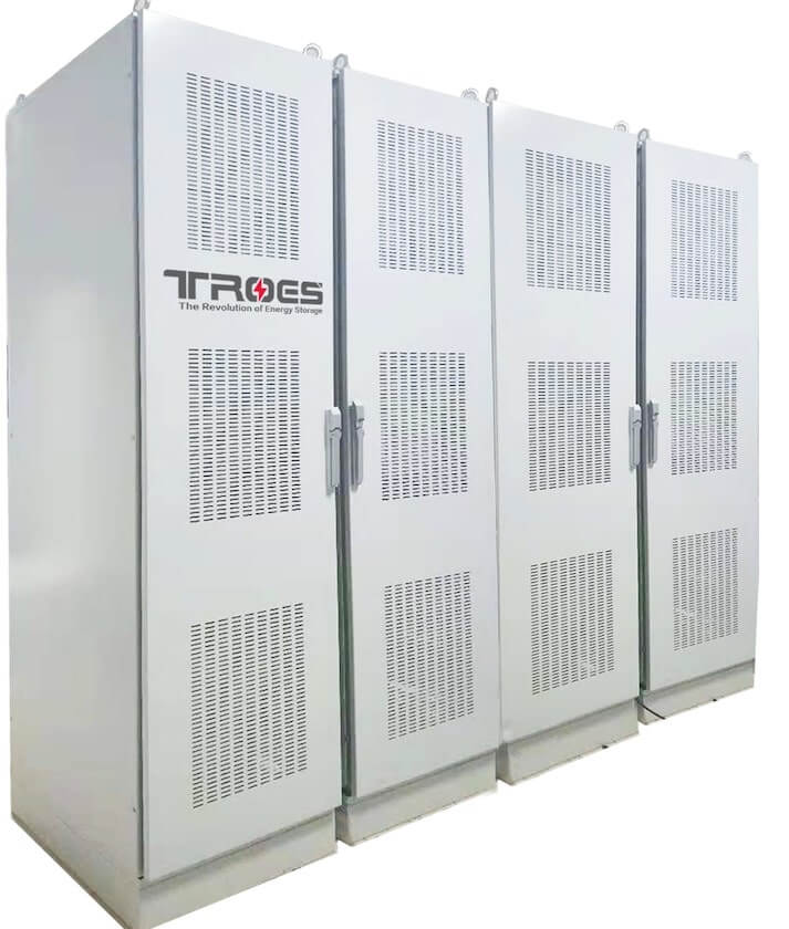 An Image of TROES' indoor battery energy storage system