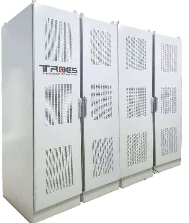 An image of TROES' indoor system, a big white container