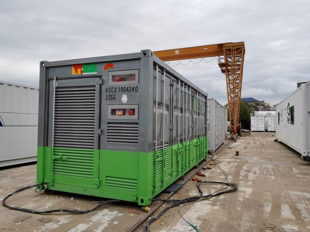 A TROES BESS Container painted for a virtual power plant project