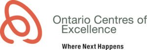 The logo for Ontario Centre of Excellence, one of TROES' affiliations