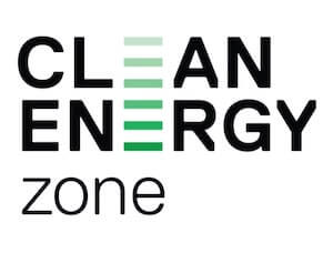 The logo for Clean Energy Zone, one of TROES' affiliations