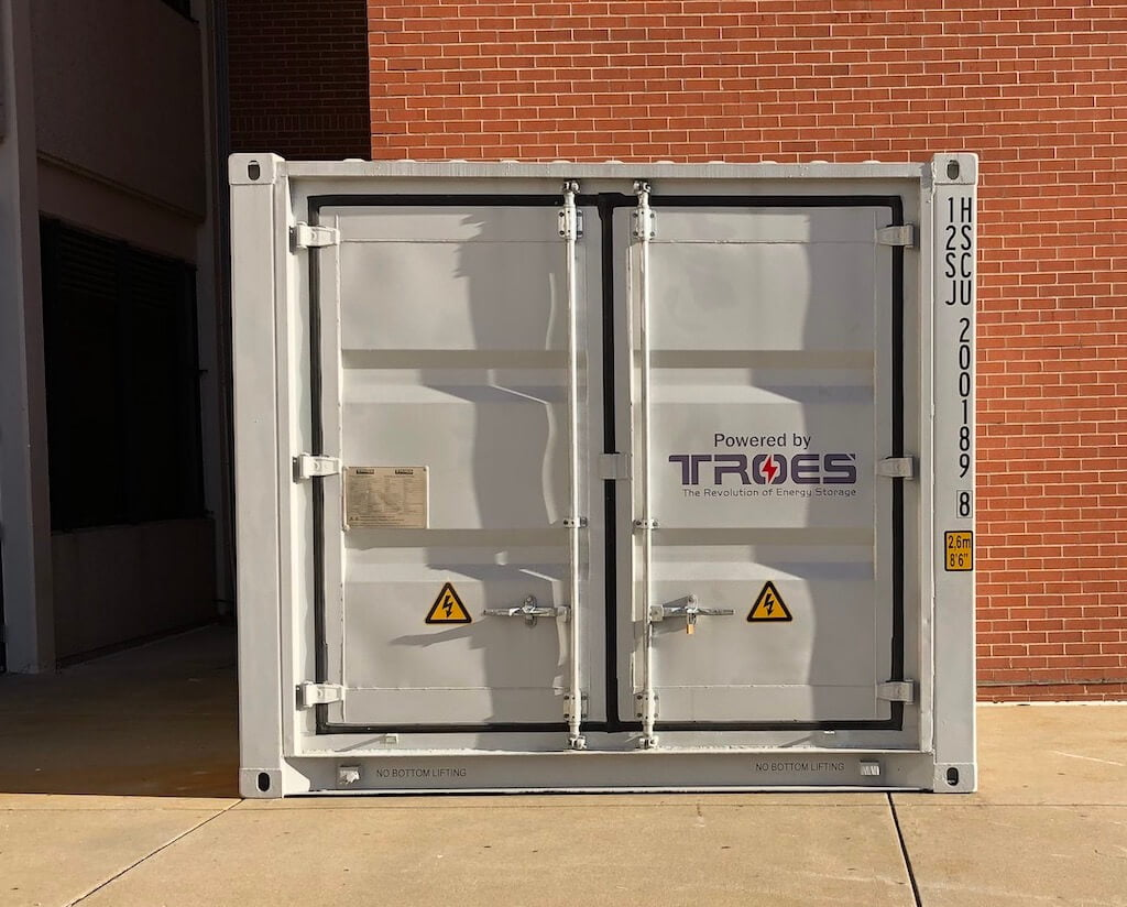 A container cabinet for a client's project that features solar integration in IllinoisA container cabinet for a client's project that features solar integration in Illinois
