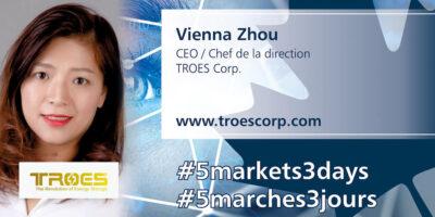 CEO of TROES Vienna Zhou Featured in Women in Tech